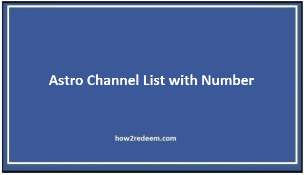 Astro Channel List