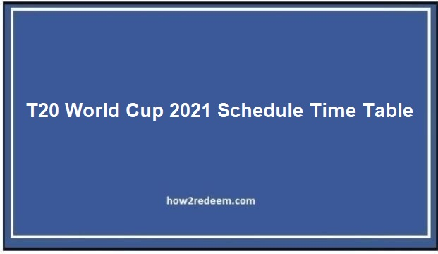 ICC T20 World Cup 2021-22 Live TV Channels List and Number India